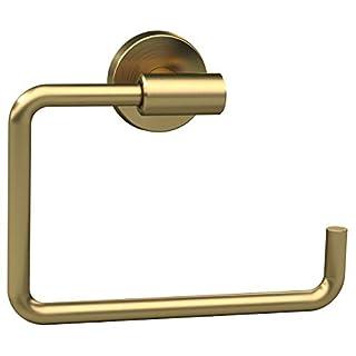 Amerock BH26541BBZ Arrondi 6-7/16 in (164 mm) Length Towel Ring in Brushed Bronze/Golden Champagne