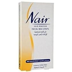 Nair 16 Wax Strips Waxing Facial Hair Removal Camomile