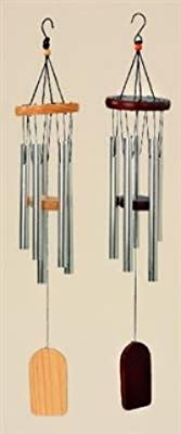 Klangspiel 5 Klangröhren 53cm Windspiel natur Mobile