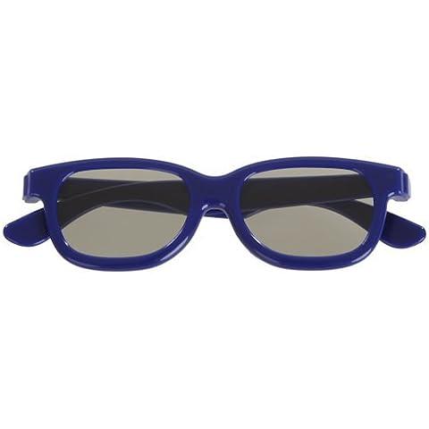 3 pares de gafas 3D pasivas para niños azul para niños el Universal TV pasiva cine y proyectores como RealD Toshiba LG