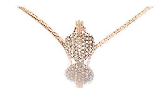 Seksy Entwine White mop Dial rose Gold orologio da donna con pendente...