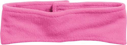 Playshoes Kinder Stirnband aus Fleece einfarbig wärmendes Accessoire mit Klett-Verschluss, Pink, one size