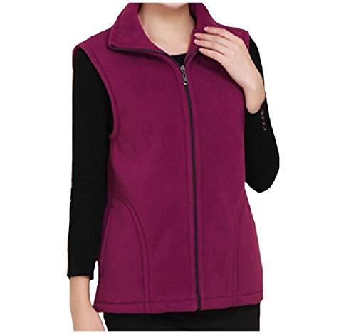 CuteRose Women's Oversized Sweatshirts Pocket Sleeveless Waistcoat Vests Light Purple 3XL - Outdoor Research-womens Vest