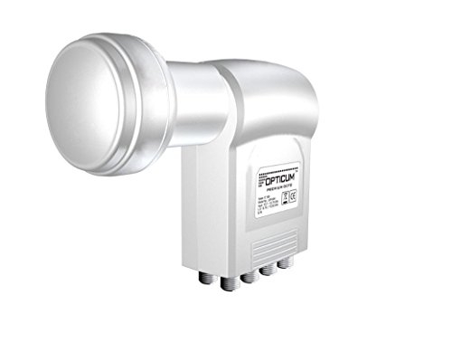 Opticum LOP-04H Octo-Switch LNB (0,1dB) per ricevitori satellitari Full HD, 3D compatibile