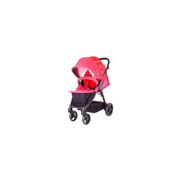 iSAFE Sail Stroller - 7 Colours! (Red) iSafe Media Viewing Extendable Hood Light Weight Sturdy Structure 3
