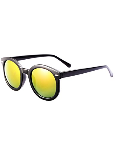 Runde Box Baby polarisierte Gläser Kinder mit Quecksilber Sonnenbrillen Männer und Mädchen trendy Farbfilm Sonnenbrille ( Farbe : 5 )