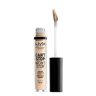 Nyx Professional Makeup Corrector No Comedogénico, Waterproof Y De Larga Duración Can'T Stop Won'T Stop 24H Tono  4  Light Ivory Para Pieles Claras