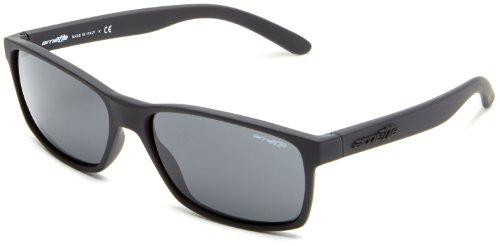 Arnette Herren 0AN4185 447/87 58 Sonnenbrille, Schwarz (Black Rubber/Gray),