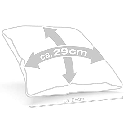 style3 8-Bit Coussin avec remplissage, housse en coton, 28x28 cm