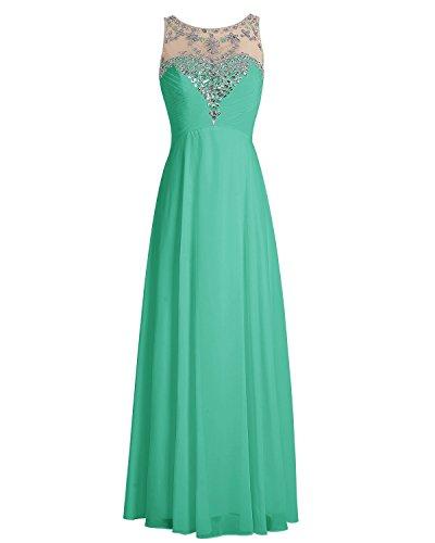 Promworld Damen Kleid rosa blush Grün