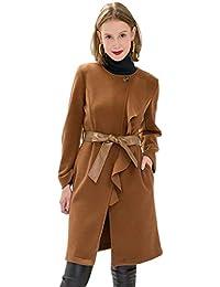 Amazon.fr   manteau ceinture - Manteaux et blousons   Femme   Vêtements dfe8f165354f