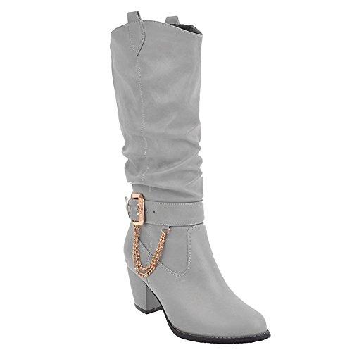 MissSaSa Damen high Heel Knöchelriemchen Cowboy Stiefel (41, Rot)