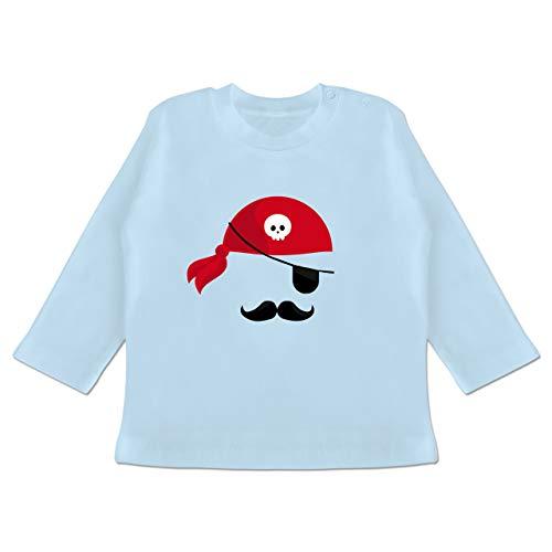 18 Pirat Monate 24 Kostüm - Karneval und Fasching Baby - Pirat Kostüm - 18-24 Monate - Babyblau - BZ11 - Baby T-Shirt Langarm