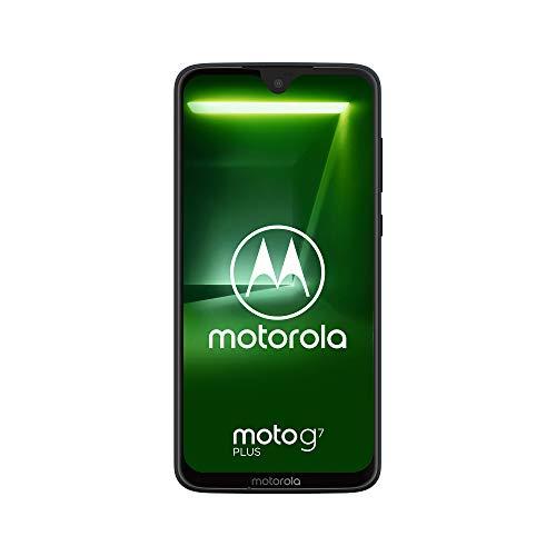moto g7 plus Dual-SIM Smartphone (6,2 Zoll Display, 16-MP-Dual-Kamera, 64GB/4GB, Android 9.0) Deep Indigo