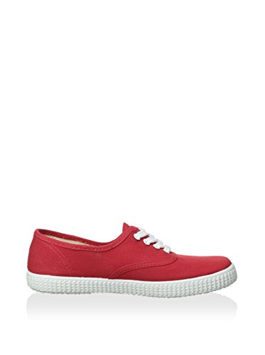 Natural World Mädchen Ingles Liso Sneakers Rot