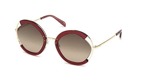 Emilio pucci ep0073 72k 57 occhiali da sole, rosa luc\roviex grad, unisex adulto