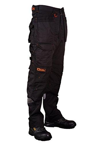 Black Hammer Pantalon de Travail pour Hommes, Ultra Solide avec Multiples Poches, triples Coutures Cordura pour renforcer Les Points de contrainte, Poche Genou rembourrée