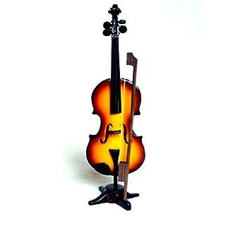 Miniatur Violine Geige Handarbeit Kunstharz airbrush Dekoration Höhe 20 cm
