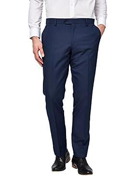 next Hombre Traje Brillante Pantalones Corte Ajustado Ropa De Abajo