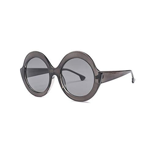Sport-Sonnenbrillen, Vintage Sonnenbrillen, Unisex Oversized Sunglasses Modis Round Oculos De Sol Retro Feminino NEW Luxury Women Brand Designer Sun Glasses UV400 C3 Clear Grey
