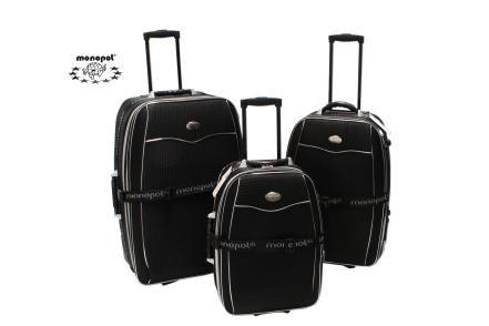 Nylon Kofferset / Reiseset 'Bali' 3 teilig, 86L/57L/37L, schwarz