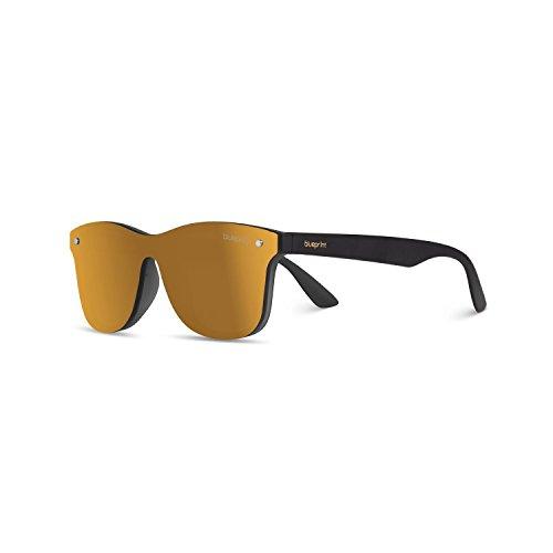 Senna nicht polarisiert Sonnenbrille mit 100% UV-Schutz - modische Designer Brille für Damen und Herren im Vintage Retro Design - Unisex Brillengestell mit hochwertigem Polycarbonat Rahmen & Etui (Champagne Gold)