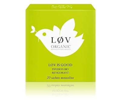 Løv Organic - Infusion d'épices bio Løv is Good - Sans théine - Se déguste chaud ou en thé glacé - Boîte de 20 Sachets en PLA produits en France - Mélange issu de l'Agriculture Biologique