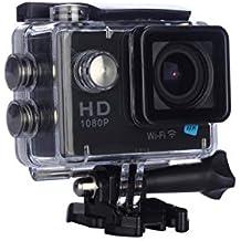 NK Dive Fotocamera subacquea 1080p (alta definizione), custodia impermeabile, 120 o 4G, schermo LCD, sensore GC0309, 700 mAh, colore nero (15 accessori multipli) (Ricondizionato)