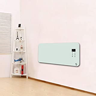 2500W Electric Wall Mounted Panel Heater Convector Radiator,Floor Free Standing 24 Hour 7 Day Timer With Thermostat,Remote Control,IP24 Rated Bathroom Safe, Energy Efficient Convector Heaters - White