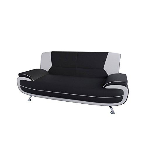 Mirjan24  Dreisitzer Sofa Palermo 3, Relaxsofa vom Hersteller, Polstermöbel, Modern Couch, Sofagarnitur, Große Farb- und Materialauswahl, Couchgarnitur (D-8 + D-511) (Moderne Polstermöbel, Sofa)