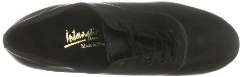 International Dance Shoes Tango INUFT0481, Herren Sportschuhe - Tanz Schwarz (Black Calf)