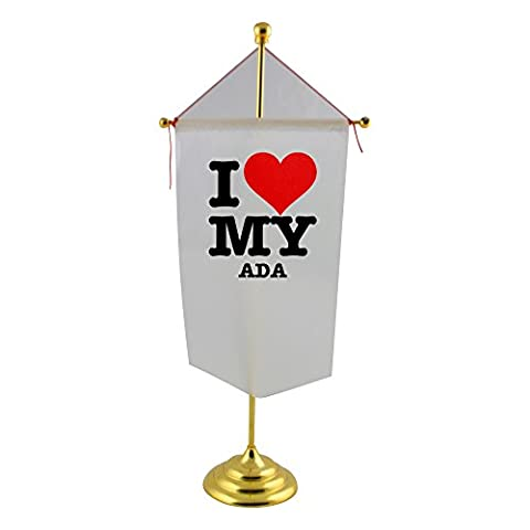 Table flag with I LOVE MY