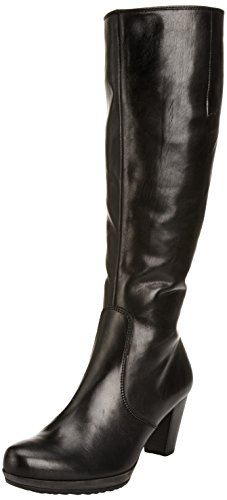Gabor Willow Med L Damen Stiefel Schwarz (Black Leather (Micro))