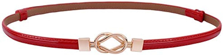 QARYYQ Cintura Sottile Decorativa in Pelle Pelle Verniciata Sottile Cintura  Donna in Pelle Pelle Cintura da Donna (Coloreee... Parent a26ff2 4a904e05cd62