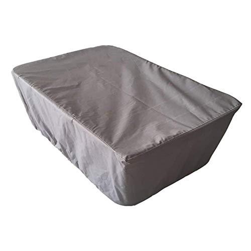 ZEMIN Housse Protection Salon De Jardin Équipement Loisir Bâche Imperméable Mobilier 210D Tissu Oxford, Personnalisable, 12 Tailles (Color : Gray, Size : 200x160x70cm)