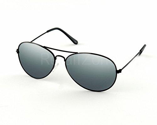 Preisvergleich Produktbild Schwarz, Pilotenbrille Sonnenbrille 80er Retro-Stil, UV 400, Design-Lampenschirme