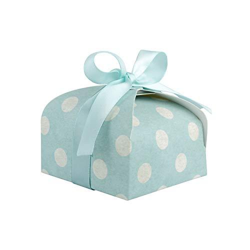 Wolfteeth 50 pz scatolina portaconfetti bomboniere confetti regalo con nastri per compleanno matrimonio battesimo festa comunione blu