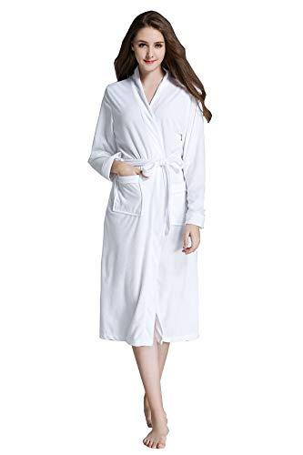 Señoras Robe Luxury Terry Toweling algodón Bata