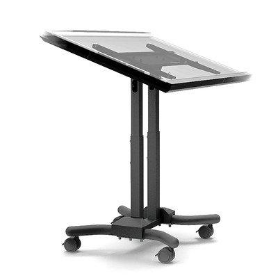 Cotytech Wandhalterung verstellbar Ergonomische Mobile Touchscreen Warenkorb für 81,3cm-142,2cm (Ergonomische Computer-cart)