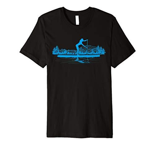 Stand Up Paddeln Board T-Shirt SUP Mädchen Paddeln Geschenk