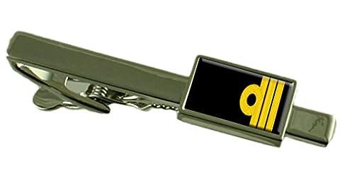 Royal Navy Rangabzeichen Rang Commander Tie Clip Wählen Sie Geschenk Tasche (Clip Navy Tie Clip)