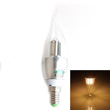 FDH 4W E14 Luces de velas LED SMD CA35 32 3014 280 lm decorativo blanco cálido 220-240 V CA