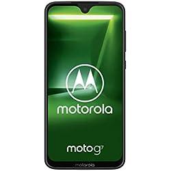"Motorola Moto G7, Smartphone Android 9.0, Display 6,2"", Dual Camera da 12Mp, 4/64 GB, Dual Sim, Ceramic Black [versione Italia]"