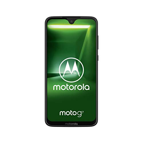 "Motorola Moto G7, Smartphone Android 9.0, Display 6,2"", Dual Camera da 12Mp, 4/64 GB, Dual Sim, Ceramic Black [versione Italia]"