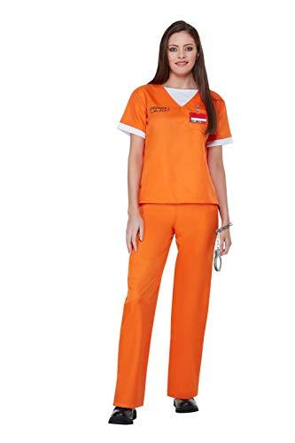 Smiffys 52242L - Uniforme de prisión, color naranja