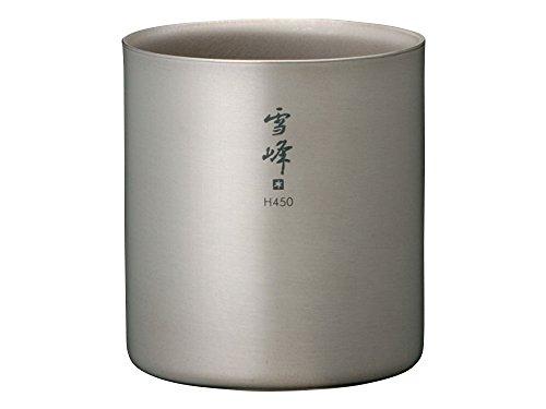 snow peak Titanium Double H Stacking Mug H450 TW-122 [Japan Import]