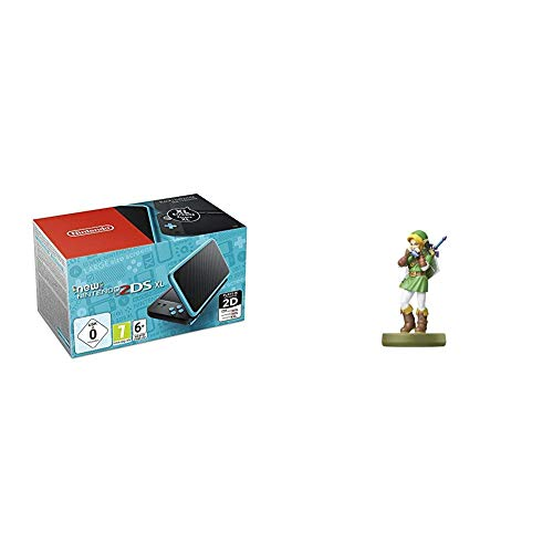 New Nintendo 2DS XL Schwarz + Türkis & amiibo Link (Ocarina of Time)