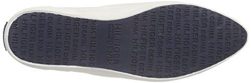 Hilfiger Denim J1385ohanna 1d, Baskets Basses femme Blanc - Weiß (WHISPER WHITE 121)