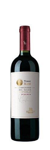 6 x 0.75 l - Terre Rare Riserva. Vino rosso sardo, Carignano del Sulcis Doc prodotto dalla Cantina Sella & Mosca. Vino rosso sardo prodotto ad Alghero. Carignano. vitigno che resiste ai venti marini