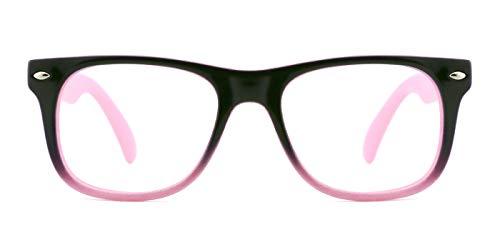 TIJN Kinder Gläser Rahmen Mädchen Jungen Nicht Verschreibung Klar Linse Kinder Brillengestell...